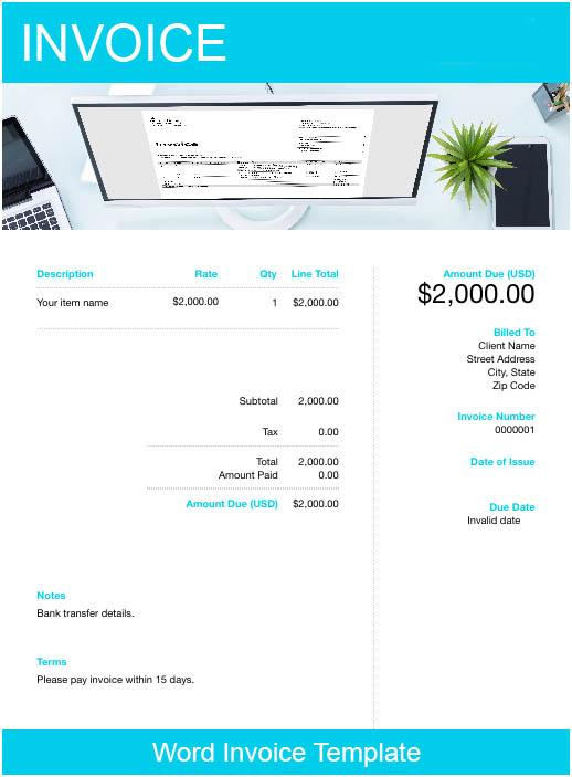 Free Invoice Templates – Download, Edit and Send with Free