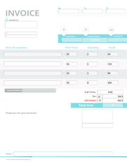 Free Invoice Templates Download Edit And Send With Free
